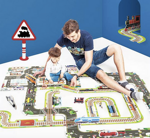 GIANT INTERCHANGEABLE FLOOR PUZZLE - RAILWAY