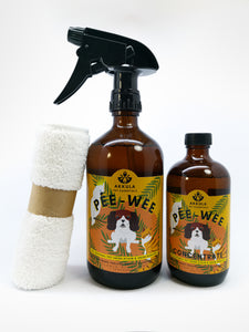 Pee-Wee : Natural Pet Urine, Stain & Odor Remover Set