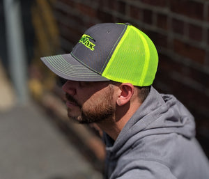 Charcoal / Safety Yellow Trucker
