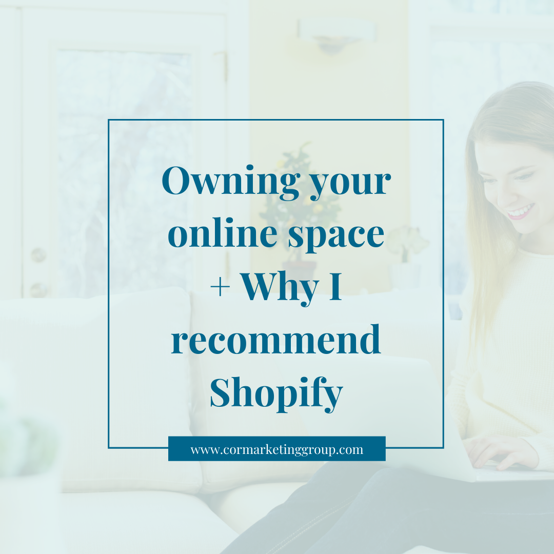 Owning your online space + Why I recommend Shopify