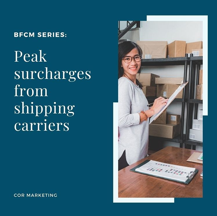 Double-Check for Peak Surcharges From Shipping Carriers