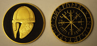 Norwegian Vikings geocoin - The Helmet
