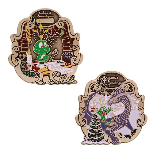 2018 Signal the Frog® Holiday Geocoin - Antique Bronze