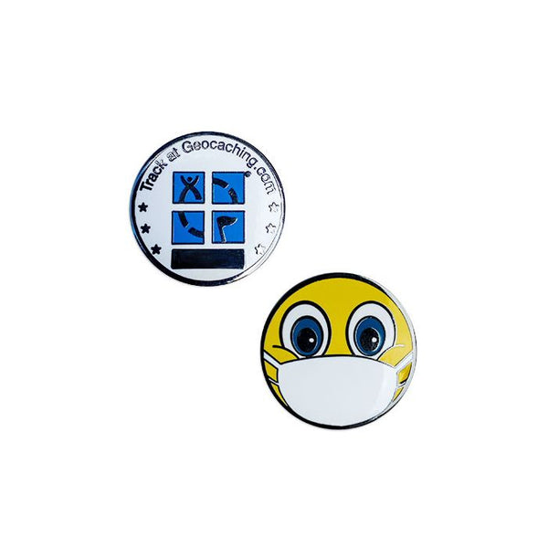 Emoji with Mask Micro Geocoin