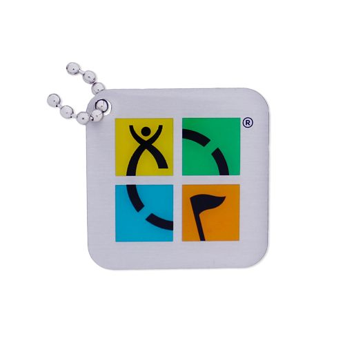 Geocaching Logo Travel Tag- Four Color