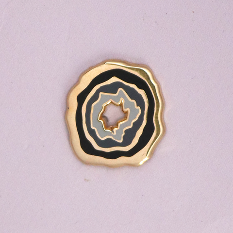 Gold Geode Mini Pin