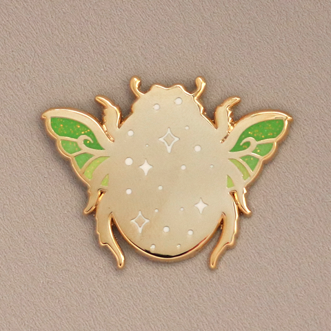 Gold Beetle Enamel Pin