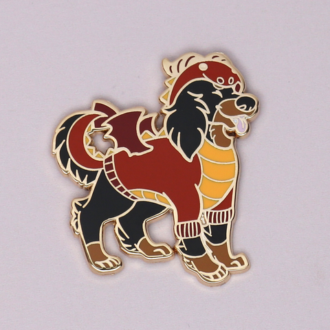 Dragon Pupper Halloween Enamel Pin