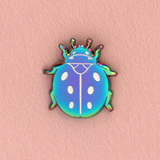 Rainbow Beetle Mini Enamel Pin