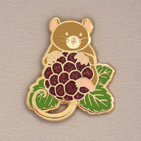 Blackberry Mouse Enamel Pin