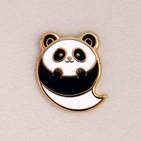Panda Ghost Mini Halloween Enamel Pin