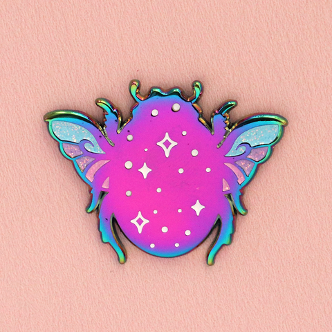 Rainbow Beetle Enamel Pin