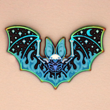 Rainbow Bat Outta Hell Halloween Enamel Pin