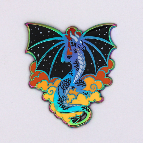 Sunset Dragon Rainbow Enamel Pin