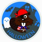 CREST - HALLOWEEN PIRATE BEAVER