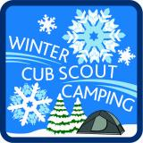 CREST - WINTER CUB SCOUT CAMPING (BLUE)