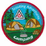 CREST - CAMPING - SCOUTING ADVENTURE