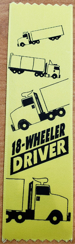 RIBBON - 18 WHEELER DRIVER