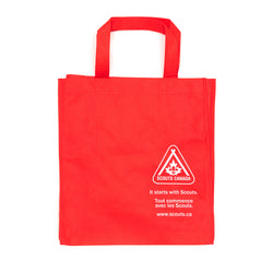 RE-USABLE ENVIRO. SHOP BAG RED W/LOGO