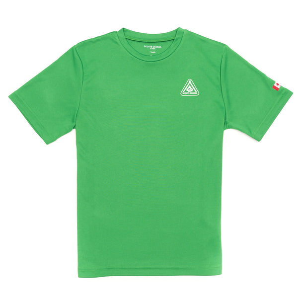 TECH T-SHIRT-SCOUT-GREEN - ADULT