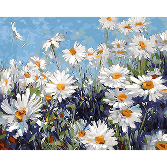 White Flowers DIY Acrylic Paint - Third Variety Select