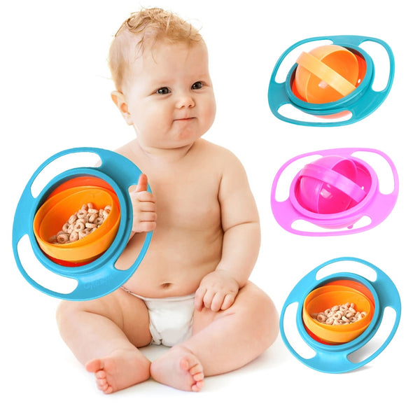 360 Rotate Gyro Bowl – Non Spill Rotating Bowl For Baby Feeding - Third Variety Select