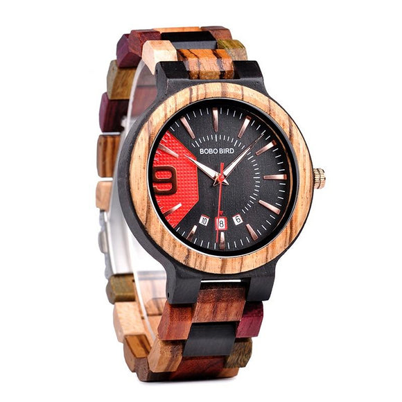 Unique Wood Band Wristwatch - Third Variety Select