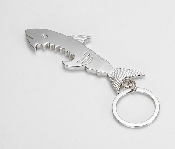 Shark Shape Bottle Opener Keychain Unique Gift - Third Variety Select
