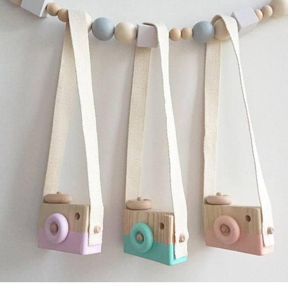 Nordic Style Hanging Wooden Camera Toys - Third Variety Select