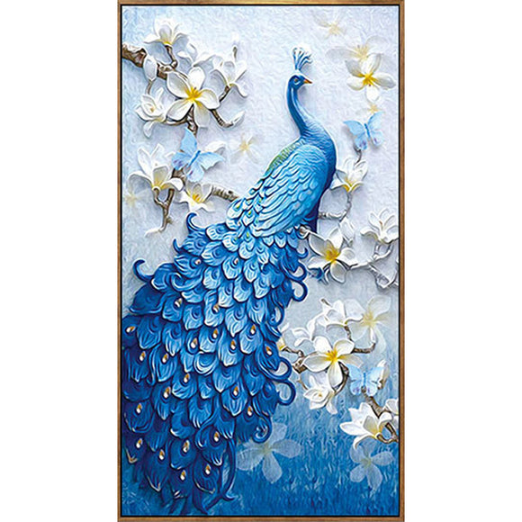 Full Drill Round Diamond Embroidery Peacock Painting - Third Variety Select