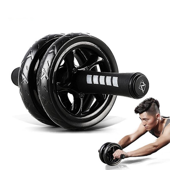 2019Muscle Exercise Equipment Home Fitness Equipment Double Wheel Abdominal Power Wheel Ab Roller Gym Roller Trainer Training - Third Variety Select