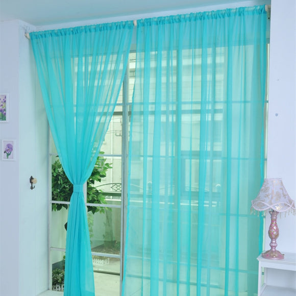 Drape Panel Sheer Tulle Curtain - Third Variety Select
