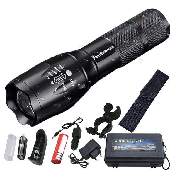 Rechargeable Zoomable LED Flashlight - Third Variety Select