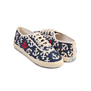 Startas Anchor Denser Blue cotton sneakers with anchor design