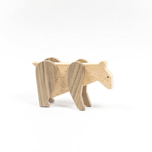 Archabits wooden toys Once Uopn A Time - bear - side