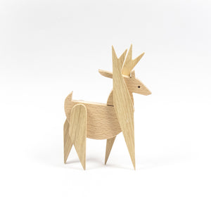 Archabits wooden toys Once Uopn A Time - deer - side