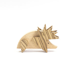 Archabits wooden toys Once Uopn A Time - hedgehog - side