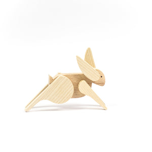 Archabits wooden toys Once Uopn A Time - rabbit - side