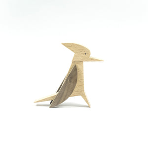 Archabits wooden toys Once Uopn A Time - woodpecker - side