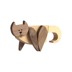 Archabits wooden toys Brementown Musicians - cat - side