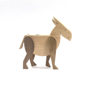 Archabits wooden toys Brementown Musicians - donkey - side