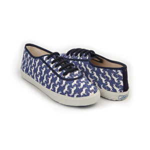 Startas Blue Unicorn - blue cotton sneakers with white unicorn design