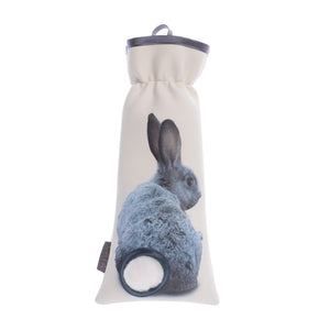 Bunny Cotton Ball Holder Blue-Gray