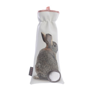 Bunny Cotton Ball Holder Sepia