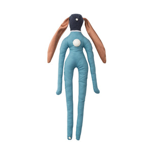 Symbol-doll made of light blue fabric with ceramic application