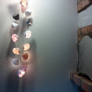 Frantaagi fairy lights in shades of rose, grey, white, apricot - mood shot