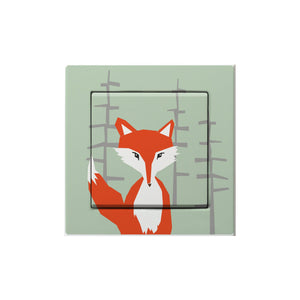 Frantaagi lightswitch with fox motive