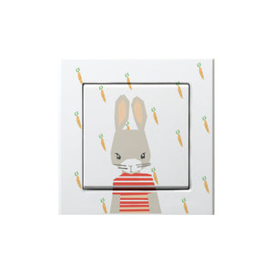 Frantaagi lightswitch with rabbit motive