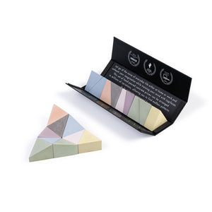 Logideez concrete puzzle, 9 pieces, packaging and triangle. Colour: varicoloured.
