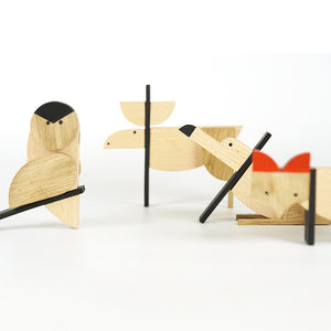 Nordic Woods Wooden Magnetic Toys - Set